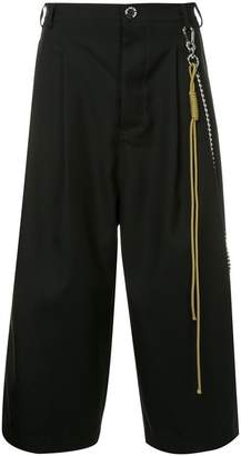 Song For The Mute cropped wide leg trousers
