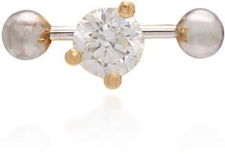 Delfina Delettrez Convertible 18K Gold Diamond Earring