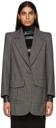 Fendi Multicolor Tweed Long Blazer