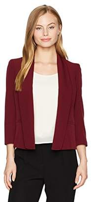 Kasper Women's Petite Size Stretch Crepe Flyaway Jacket