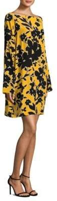 Michael Kors Silk Floral-Print Dress