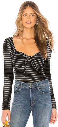 MinkPink Morgan Stripe Rib Top