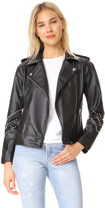 BB Dakota Jerilyn Studded Washed Jacket $120 thestylecure.com