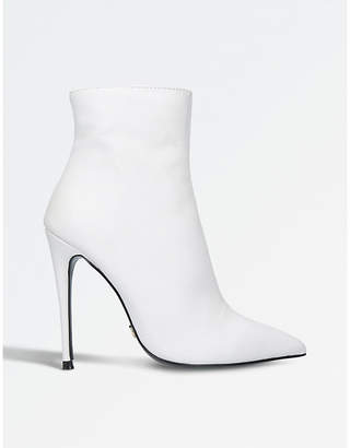 Kurt Geiger London Ladies White Ride Stiletto Ankle Boots