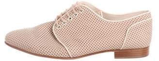 Fendi Perforated Leather Oxfords