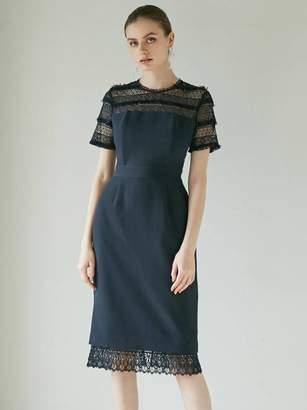 LAGUNAMOON (ラグナムーン) - ラグナムーン LADYフリンジレースタイトドレス