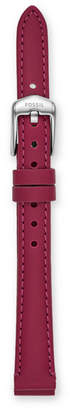 Fossil 12mm Raspberry Leather Strap