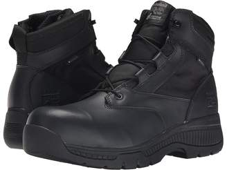 Timberland 6 Valortm Duty Composite Safety Toe Waterproof Side-Zip Men's Work Lace-up Boots