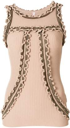 Antonio Marras ruffle detail tank top