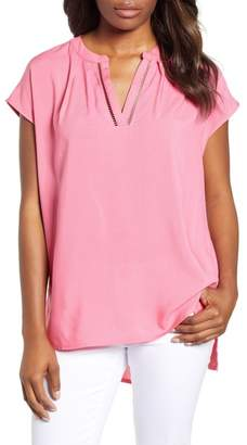 Caslon R R) High\u002FLow Woven Top (Regular & Petite)
