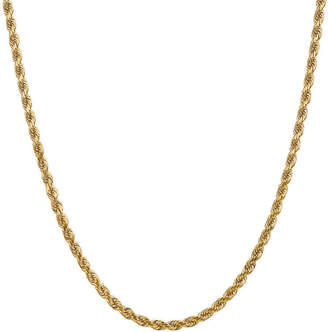 FINE JEWELRY 14K Gold Solid Rope Chain Necklace