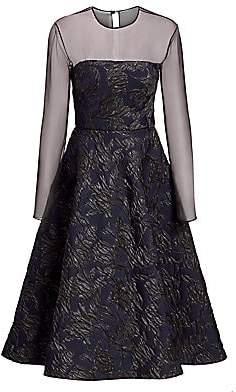 Jason Wu Collection Women's Embossed Tulle Cocktail Dress