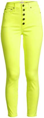 Alice + Olivia Jeans Good High-Rise Neon Button Fly Skinny Ankle Jeans