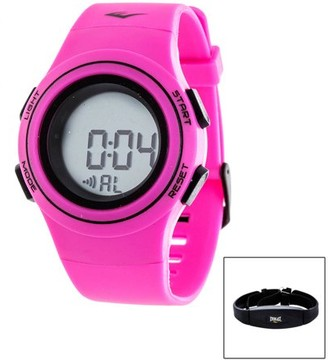 Everlast Women's HR6 Heart Rate Monitor Watch with Transmitter Belt, Pink Plastic Band