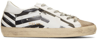 Golden Goose White Flag Superstar Sneakers $460 thestylecure.com