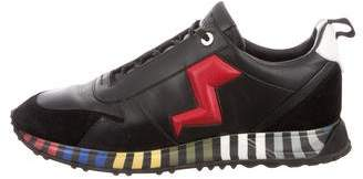 Fendi Lightning Bolt Low-Top Sneakers