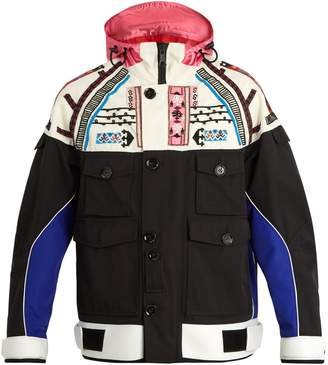 Valentino Embellished hooded multi-pocket jacket