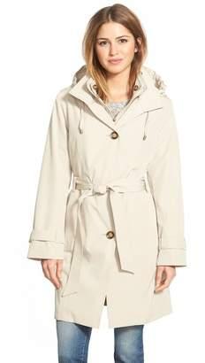 London Fog Hooded Raincoat $200 thestylecure.com