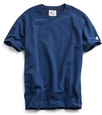 Todd Snyder + Champion Short Sleeve Sweatshirt in Marine Blue