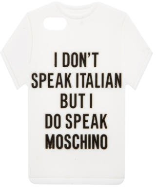Moschino T-Shirt iPhone 5 Case w/ Tags $70 thestylecure.com