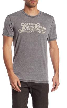 Lucky Brand Graphic Logo Burnout Tee