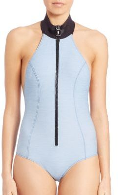 Lisa Marie Fernandez One-Piece Denim Maillot $390 thestylecure.com