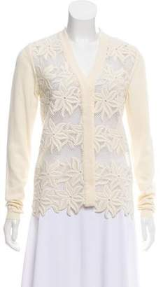 Chloé Embroidered V-Neck Cardigan