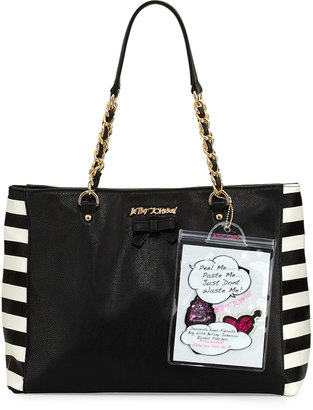 Betsey Johnson Sticky Situation Tote Bag, Multi $95 thestylecure.com