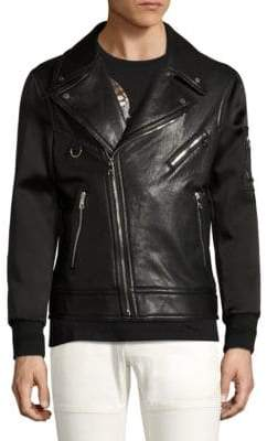 Neil Barrett Leather Biker Bomber Jacket