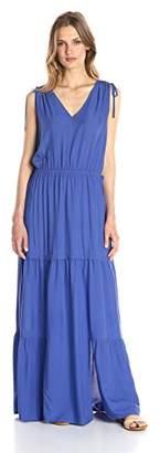Lark & Ro Women's Sleeveless Multi-Tiered Maxi Dress