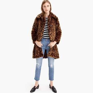 J.Crew Faux-fur leopard coat