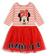 Pippa & Julie x Disney Minnie Long Sleeve Two-Tier Tutu Dress