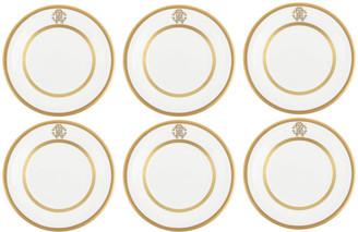 Roberto Cavalli Silk Gold Bread/Butter Plates - Set of 6
