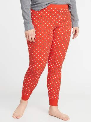 Old Navy Printed Thermal-Knit Plus-Size Leggings