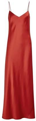 Galvan Burnt Orange Satin Slip Dress