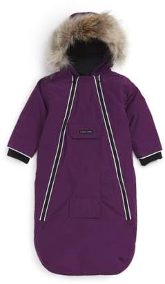 Canada Goose 'Bunny' Hooded Bunting with Genuine Coyote Fur Trim