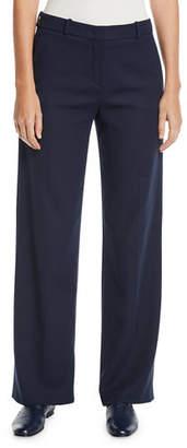 Loro Piana Adam High-Rise Wide-Leg Wool-Silk Pants