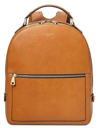 Aspinal of London Medium Mount Street Backpack In Smooth Tan