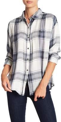 GOOD LUCK GEM Plaid Button Front Shirt