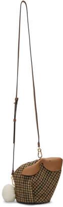 Loewe Brown Mini Tweed Bunny Bag