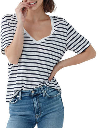 Splendid Everly Striped Short-Sleeve V-Neck Tee