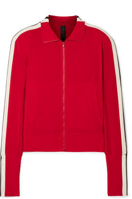 Norma Kamali Striped Stretch-jersey Track Jacket - Red