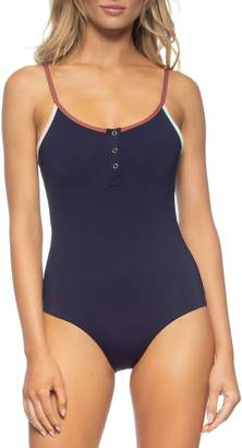 Tavik Lila Ribbed One-Piece Swimsuit