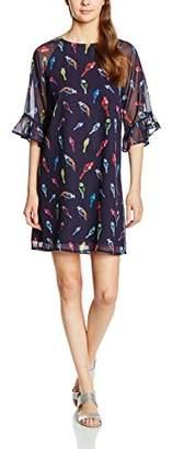Almost Famous Women's Flutter Sleeve Bird Print Tunic Dress