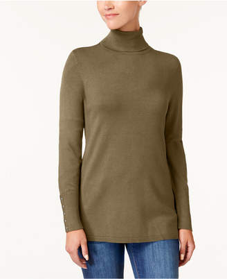 JM Collection Rivet-Detail Turtleneck Sweater, Created for Macy's