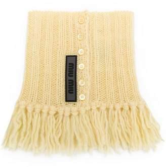 Miu Miu knitted collar scarf