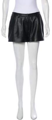ALICE by Temperley Leather Mini Shorts