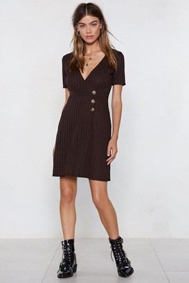 Nasty Gal Sweet Like Chocolate Button Dress