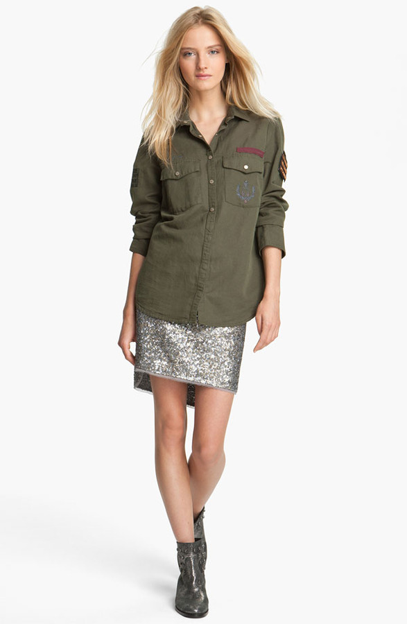 Zadig & Voltaire 'Tachly' Military Shirt