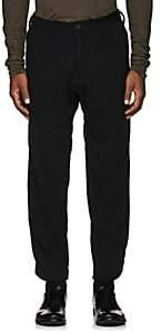 Yohji Yamamoto Men's Wool-Blend Knit Slim Trousers - Black
